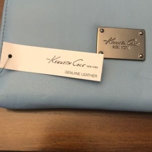 Kenneth Cole Bags - Kenneth Cole cornflower blue leather wallet NWT